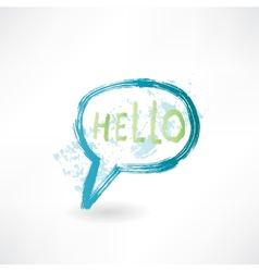Bubble speech with word hello Brush icon vector image