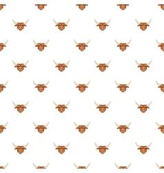 Bull head pattern cartoon style vector