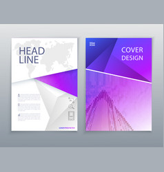 Business template violet pink flayer or vector