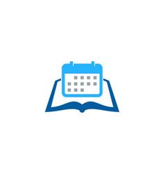 Calendar book logo icon design vector