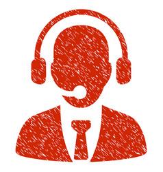 Call center grunge icon vector