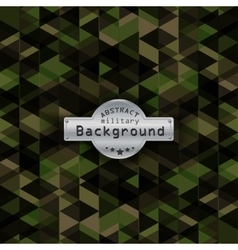 Camouflage military triangle pattern background vector