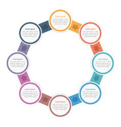 circle diagram with eight steps vector image