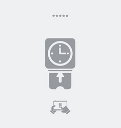 Clocking-in card - web icon vector