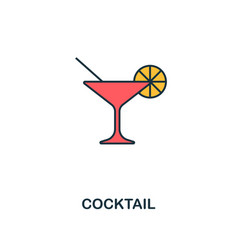 cocktail icon creative 2 colors design vector image