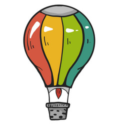 Colorful airballoon on a white background vector