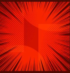Comic elegant red light background vector