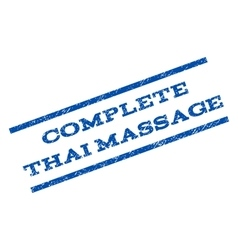 Complete Thai Massage Watermark Stamp vector image