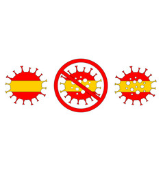 Coronavirus in spain madrid isolated vector