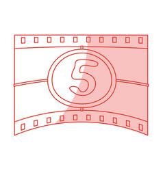 countdown film design vector image