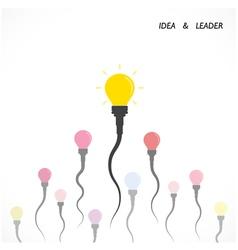 Creative light bulb idea and leader concept vector