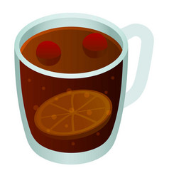 Cup mulled wine icon isometric style vector