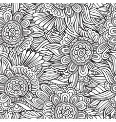 decorative nature seamless pattern vector image