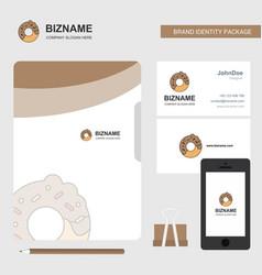 Doughnut business logo file cover visiting card vector