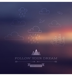 dream vector image