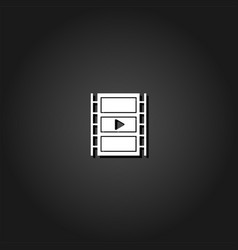 film strip icon flat vector image