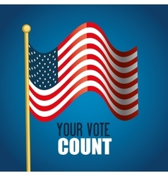 flag usa your vote count graphic vector image