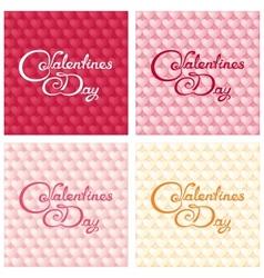 Gentle valentines design vector