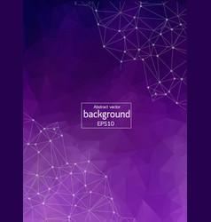 geometric dark purple polygonal background vector image