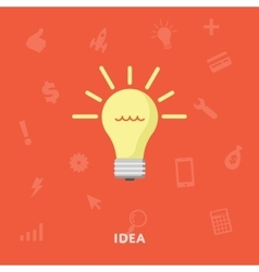 Glowing light bulb symbol vector