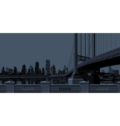 Gray background of the city with skyscrapers near vector image