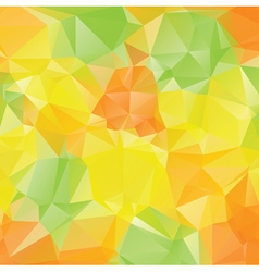 Green yellow orange polygons3 vector