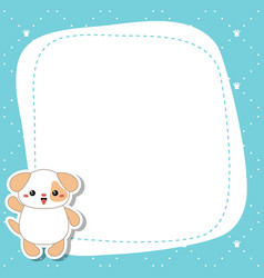 greeting card with cute dog greeting card with vector image