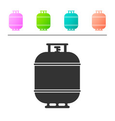 Grey propane gas tank icon isolated on white vector