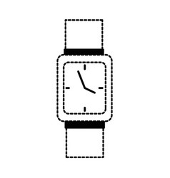 Handle time clock isolated icon vector