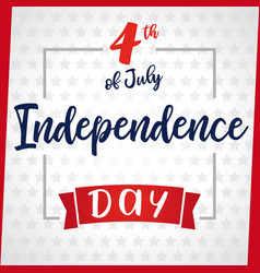 independence day greeting card light star vector image