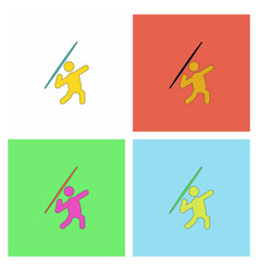 Javelin throwing athlete man - collection vector