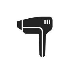Laser light epilator silhouette icon hair removal vector