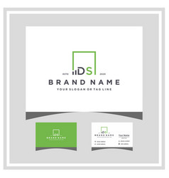 Letter ds square logo finance design and business vector