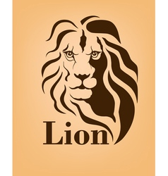 Lion logo design template vector image