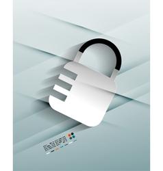lock paper design vector image