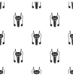 Male reproductive system icon in black style vector