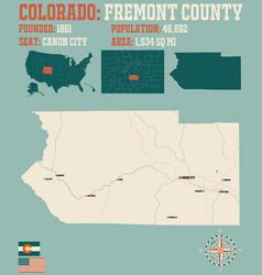Map fremont county in colorado vector