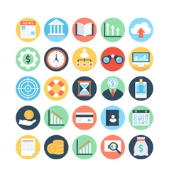 Market and Economics Colored Icons 2 vector