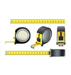 measurement tape realistic construction ruler 3d vector image