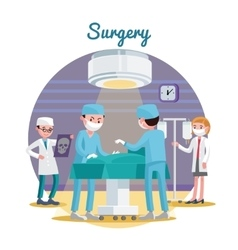 Medical Surgery Flat Composition vector image