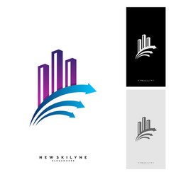 modern city logo concepts corporate business vector image