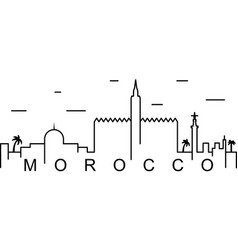 morocco outline icon can be used for web logo vector image