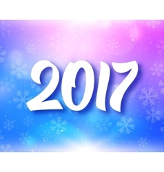 New Year 2017 typography on festive background vector