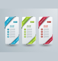 Number option banners design can be used for vector