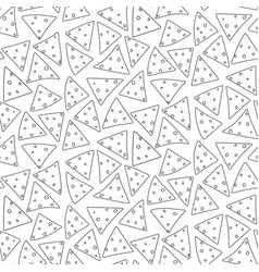 outline black cartoon nachos pattern vector image