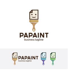 paper paint logo vector image