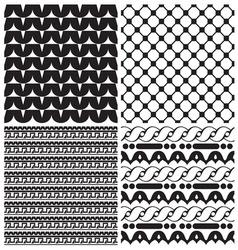 Patternici novije set resize vector image