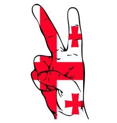Peace Sign of the Georgian flag vector