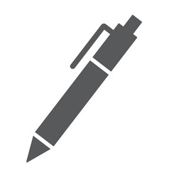 pen glyph icon office and work edit sign vector image
