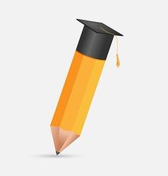 Pencil Education Cap Graduation Symbol vector image